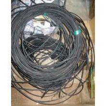 Оптический кабель Б/У для внешней прокладки (с металлическим тросом) в Кемерово, оптокабель БУ (Кемерово)